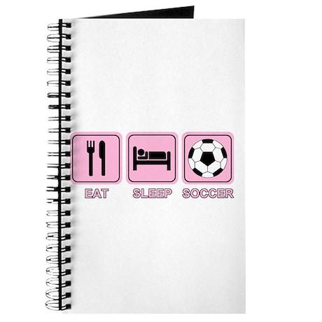 EAT SLEEP SOCCER (pink) Journal