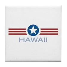 Star Stripes Hawaii Tile Coaster