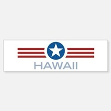 Star Stripes Hawaii Bumper Bumper Bumper Sticker
