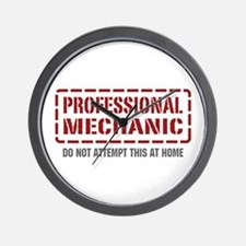Professional Mechanic Wall Clock