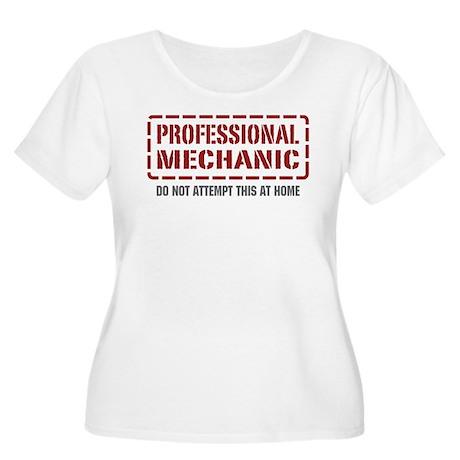 Professional Mechanic Women's Plus Size Scoop Neck