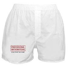 Professional Mathematician Boxer Shorts