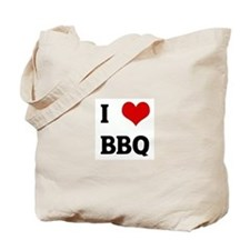 I Love BBQ Tote Bag