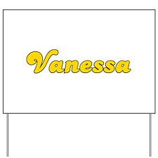 Retro Vanessa (Gold) Yard Sign