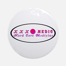 Paramedic Oval Pink Ornament (Round)