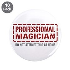 """Professional Magician 3.5"""" Button (10 pack)"""