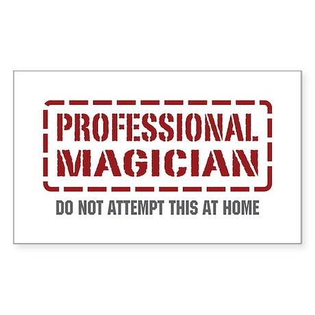 Professional Magician Rectangle Sticker