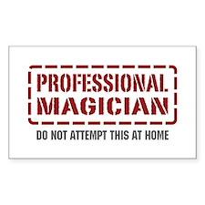 Professional Magician Rectangle Sticker 10 pk)