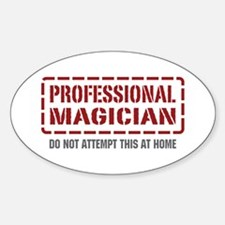 Professional Magician Oval Decal