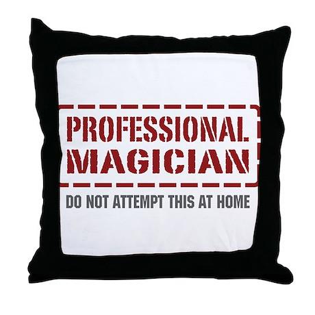 Professional Magician Throw Pillow