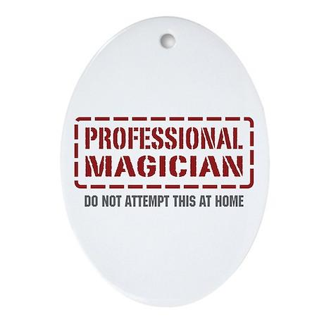 Professional Magician Oval Ornament