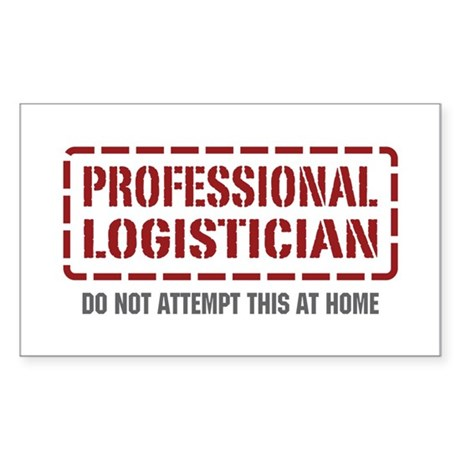 Professional Logistician Rectangle Sticker