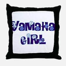 YAMAHA GIRL Throw Pillow