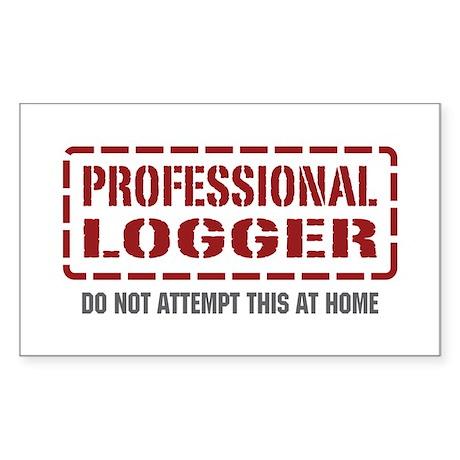 Professional Logger Rectangle Sticker