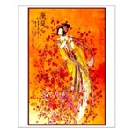 Japanese Geisha Playing the Flute Small Poster