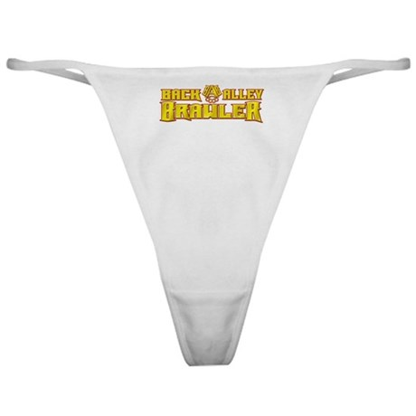 Back Alley Brawler - Gold Classic Thong