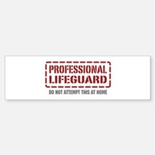 Professional Lifeguard Bumper Bumper Bumper Sticker