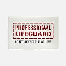 Professional Lifeguard Rectangle Magnet