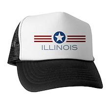 Star Stripes Illinois Trucker Hat