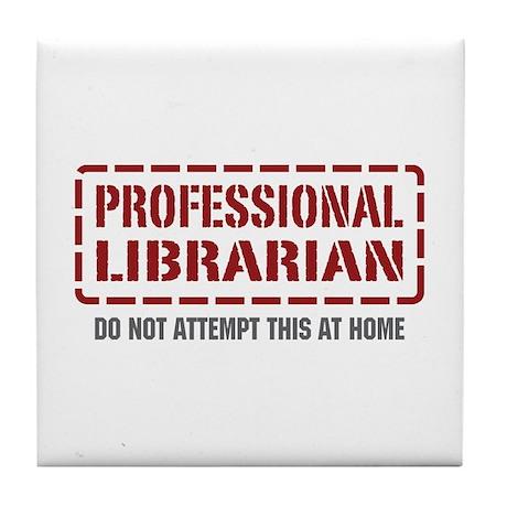 Professional Librarian Tile Coaster