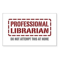 Professional Librarian Rectangle Decal
