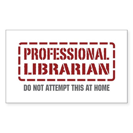 Professional Librarian Rectangle Sticker