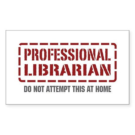 Professional Librarian Rectangle Sticker 10 pk)