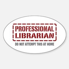 Professional Librarian Oval Decal
