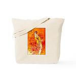 Japanese Geisha Playing the Flute Tote Bag