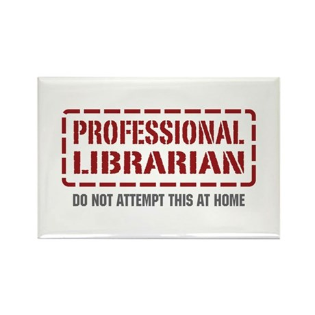 Professional Librarian Rectangle Magnet