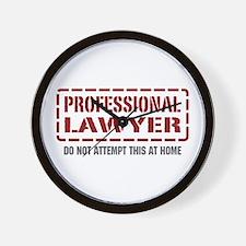 Professional Lawyer Wall Clock