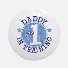 #1 DADDY IN TRAINING Ornament (Round)