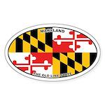 Maryland State Flag Oval Sticker