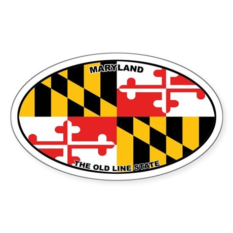 Maryland State Flag Oval Sticker