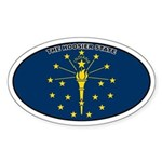 Indiana State Flag Oval Sticker