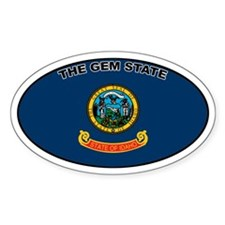 Idaho State Flag Oval Decal
