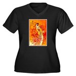 Japanese Geisha Playing the Flute Plus Size T-Shir