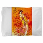 Japanese Geisha Playing the Flute Pillow Sham