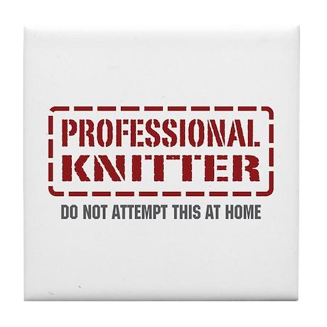 Professional Knitter Tile Coaster