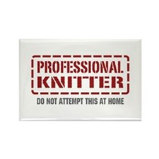 Professional Knitter Rectangle Magnet