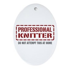 Professional Knitter Oval Ornament