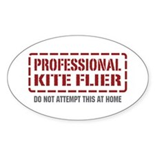Professional Kite Flier Oval Decal