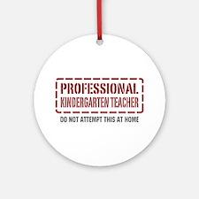 Professional Kindergarten Teacher Ornament (Round)