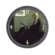 PBGV WHISTLER'S MOTHER Wall Clock
