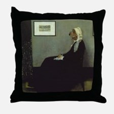 PBGV WHISTLER'S MOTHER Throw Pillow