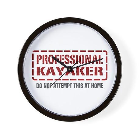 Professional Kayaker Wall Clock