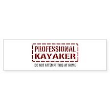 Professional Kayaker Bumper Bumper Sticker