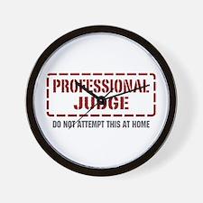 Professional Judge Wall Clock