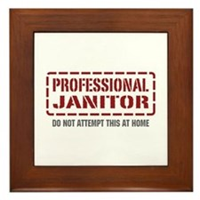 Professional Janitor Framed Tile