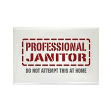 Professional Janitor Rectangle Magnet